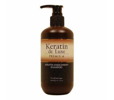 Шампунь восстанавливающий с кератином Keratin De Luxe Shampoo 300 мл