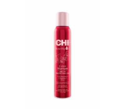 Chi Защитное масло Мультифункциональный финишный спрей с УФ-фильтрами CHI Rose Hip Oil Color Nurture Dry UV Protecting Oil 150 мл