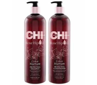 Набор CHI Rose Hip Oil Color Nurture Protecting Shampoo+Conditioner 739 + 739 мл