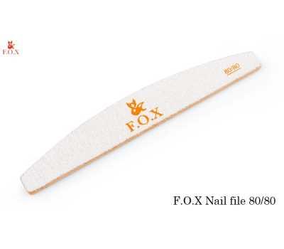 Пилка для искусственных ногтей абразивность 80*80 F.O.X. Nail