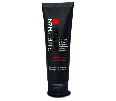 Мужской гель для волос сильной фиксации Nouvelle Simply Man Wet Look Strong Gel, 150 мл
