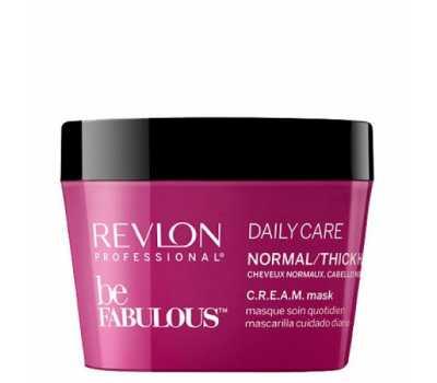 Маска для нормальных и густых волос для ежедневного использования Revlon Professional Be Fabulous C.R.E.A.M. Mask For Normal Thick Hair 200 мл