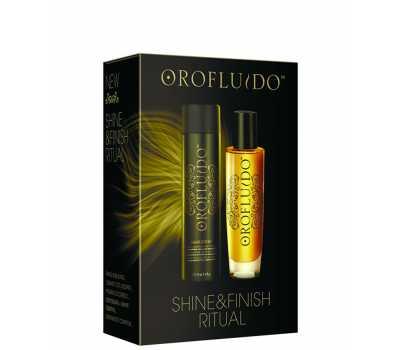 Набор (Эликсир 50 мл + Лак д/волос 75 мл) Orofluido Finish Ritual Pack