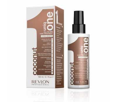 Маска-спрей для волос с ароматом кокоса Revlon Uniq One All in One Hair Treatment Coconut, 150 мл